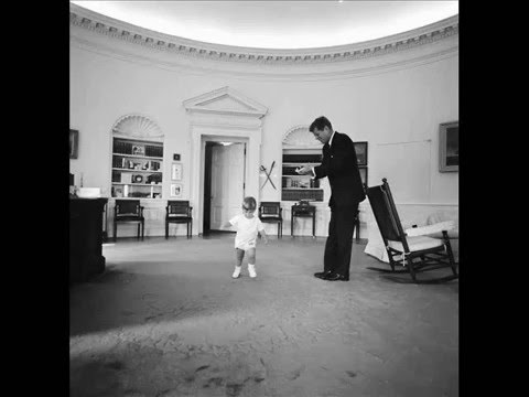 KENNEDY SLIDESHOW 3 THE KIDS PLAY IN THE OVAL OFFICE OCTOBER