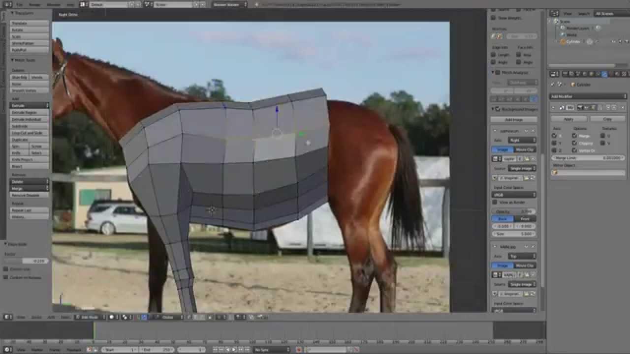 Blender Low Poly Horse Modeling (Timelapse)