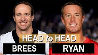Drew Brees vs. Matt Ryan by the NUMBERS--some SURPRISES! thumbnail