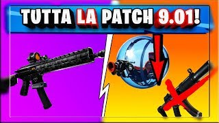 TOUS LES PATCH 9.01 FORTNITE! AU REVOIR GUN! NERF THOMPSON ET GIROSFERA! (FORTNITE SAISON 9)