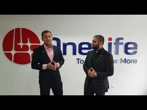 Mansour Tawafi with Konstantian Ignotova at Onecoin Head Office Bulgaria
