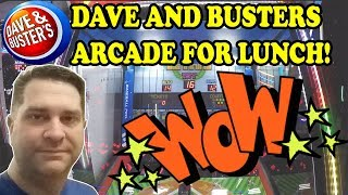 Lunch hour at Dave and Busters Arcade! Strange Unknown Game? New high score on BASEBALL PRO! BOOM!