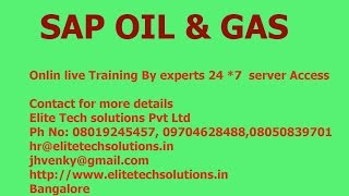 SAP IS Oil & Gas Downstream Online Training Demo @ 91-8019245457