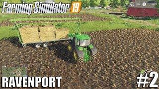 BALE STACKING| Ravenport | Timelapse #2 | Farming Simulator 19