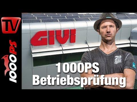 1000PS Betriebsprüfung - GIVI Motorradzubehör mady in Italy