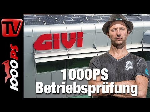 1000PS Betriebsprüfung - GIVI Motorradzubehör made in Italy