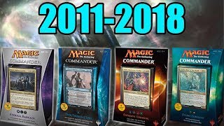 Taking a Look at All the Commander Products Before 2018