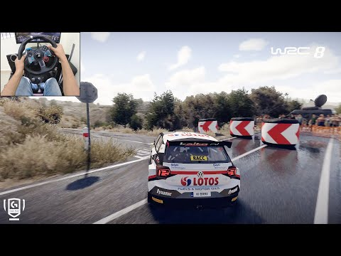 Volkswagen Polo R5 - WRC 8 FIA World Rally Championship | Logitech G29 Gameplay