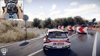 Volkswagen Polo R5 - WRC 8 FIA World Rally Championship | Logitech g29 gameplay