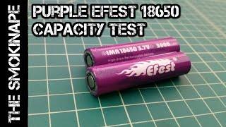 Efest Purple 3,000mah 18650 Rechargeable Battery Capacity Test - TheSmokinApe