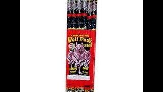 Year 2- Wolf Pack Crackling Roman Candle - Phantom Fireworks