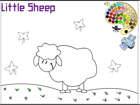 Sheep Coloring Pages For Kids Sheep Coloring Pages Youtube