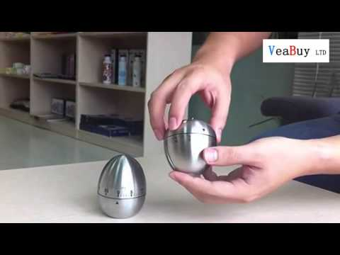 Metal Stainless SteelMechanical Egg Kitchen Cooking Timer Countdown Alarm 60 Minutes