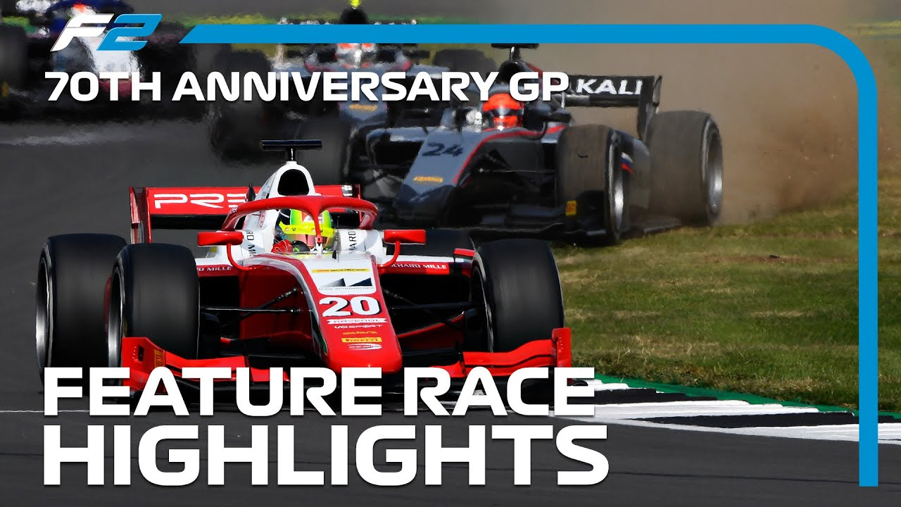 F2 Feature Race Highlights | 70th Anniversary Grand Prix
