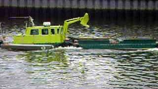 Glasgow river clyde clean up barge