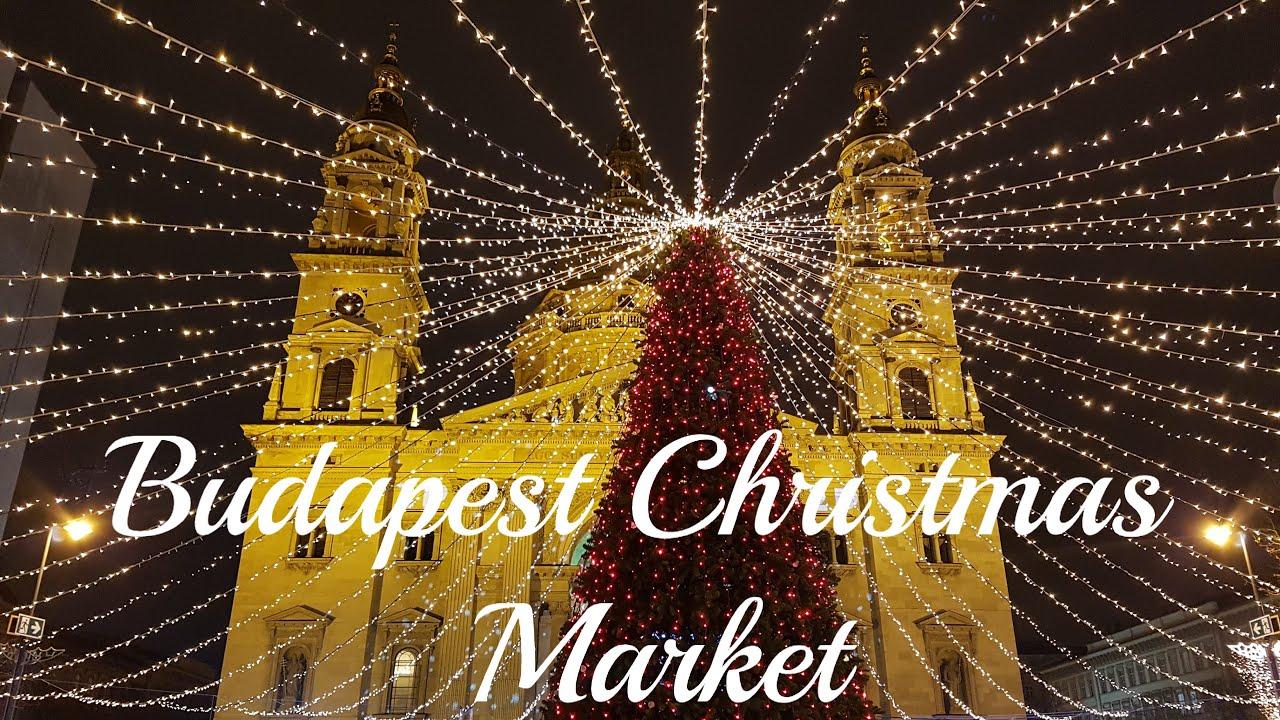 Vorosmarty Square Budapest Christmas Market.Budapest Christmas Market At Vorosmarty Square Basilica Hungary
