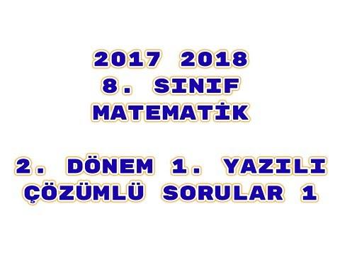 8. Sınıf Matematik 2. Dönem 1. Yazılı ÖRNEK 1
