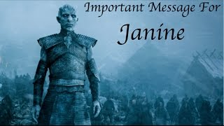 Winter is Coming, Janine!