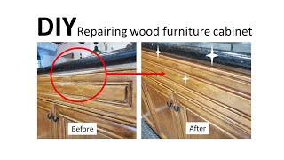 [ DIY ] Repairing wood furnitu…