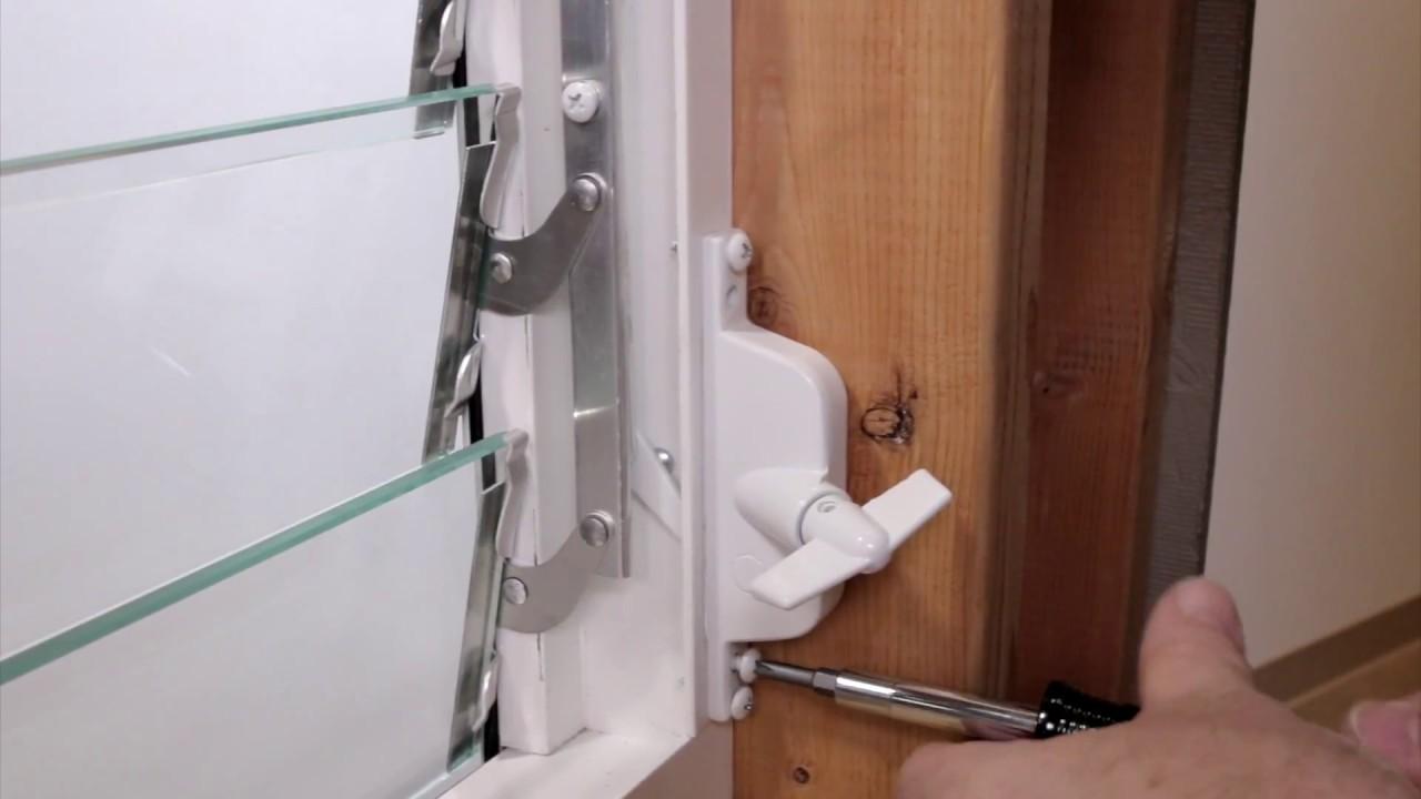 Jalousie Window Operator Installation