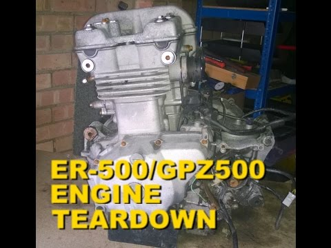 Kawasaki ER-5 / KLE 500 / GPZ 500 / EX 500 - Engine TEARDOWN - Part 7 Slitting the cases