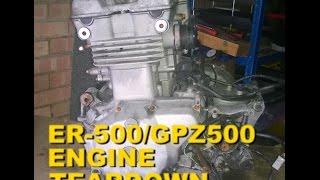 Kawasaki ER-5 / KLE 500 / GPZ 500 / EX 500 - Engine TEARDOWN - Part 7 Slitting the cases