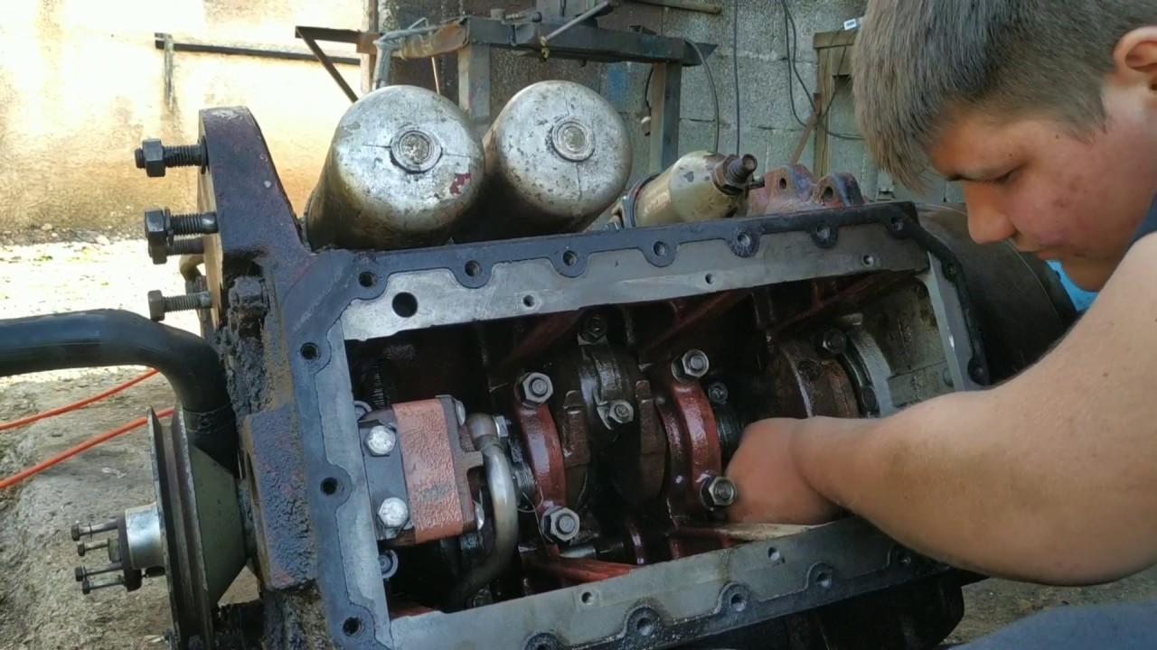 Η συναρμολόγηση του κινητήρα. Zetor 4911 PART 2