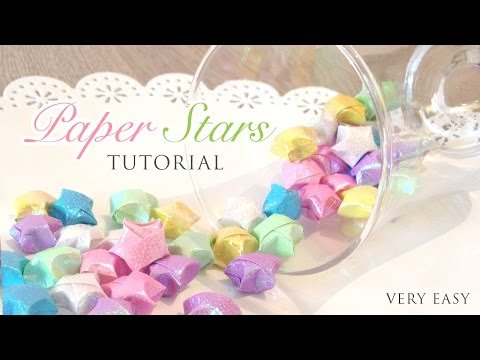 Kawaii Origami Paper Stars Tutorial