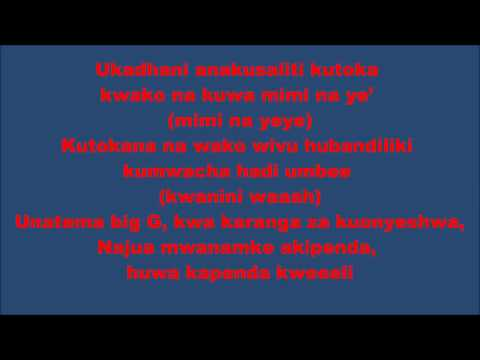 MAPENZI YANA RUN DUNIA   ALI KIBA Lyrics by yoseph mhs