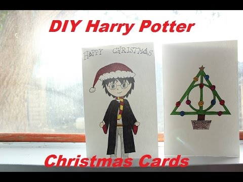 diy harry potter christmas cards