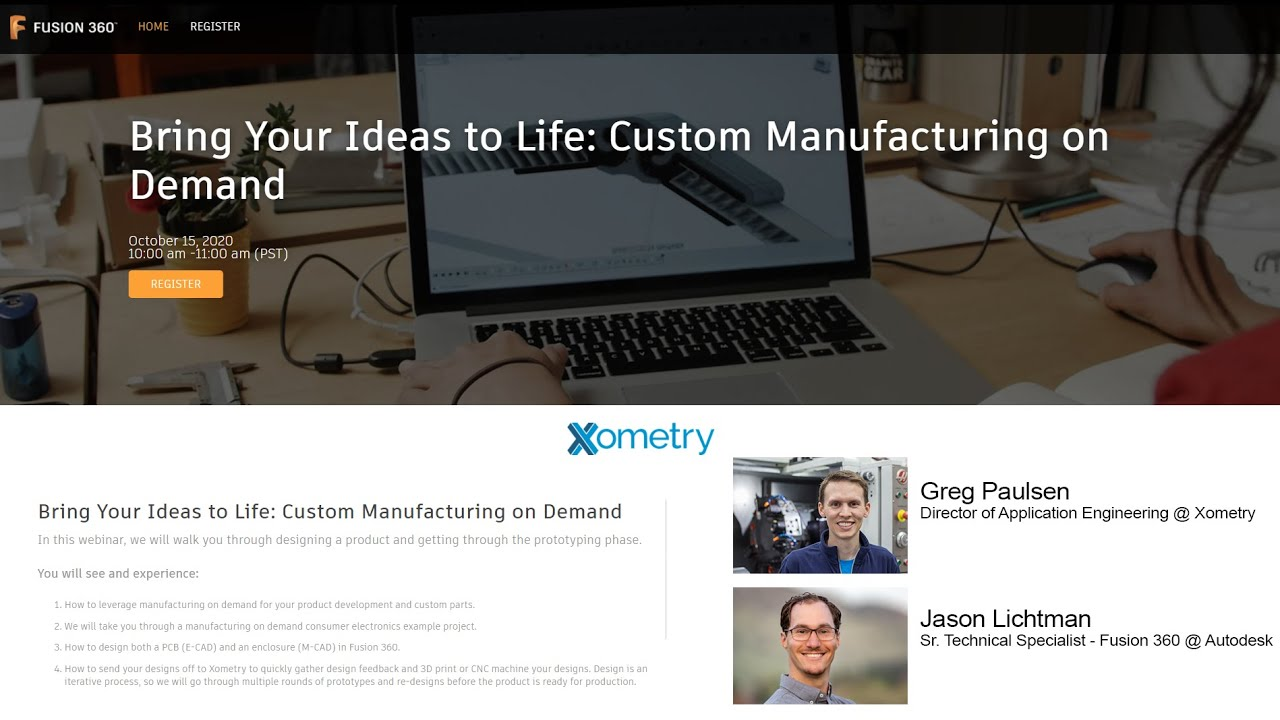 Webinar: Bring Your Ideas to Life with Custom Manufacturing on Demand via Xometry