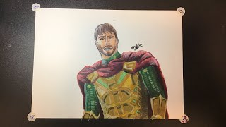 DRAWING MYSTERIO (JAKE GYLLENHAAL) | SPIDER-MAN: FAR FROM HOME