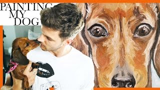 PAINTING MY DOG | #DRAWINGWITHJIM