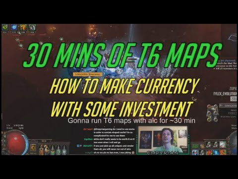 [PoE] How to make currency with some investment - T6 maps