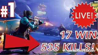 FORTNITE | (535/1000) | MOST ACTIVE PEOPLE GET SHOUTOUT/ MODERATOR