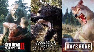 Wild Animals Attacks (DAYS GONE vs RDR2 vs AC:O)