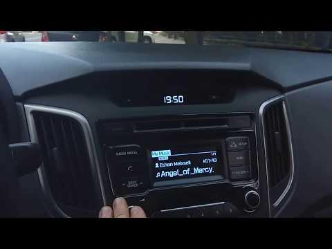 Как записать музыку с флешки в память магнитолы Hyundai Creta