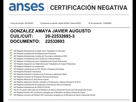 🔴 Certificación Negativa de ANSES. ¿Para qué sirve?