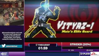 Strider (2014) by Theguesst in 31:12 - SGDQ2017 - Part 11