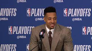 CJ McCollum Postgame Interview - Game 6 | Nuggets vs Blazers | 2019 NBA Playoffs