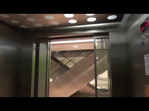 ThyssenKrupp MRL Traction elevator @ Fields parking garage, Copenhagen, Denmark