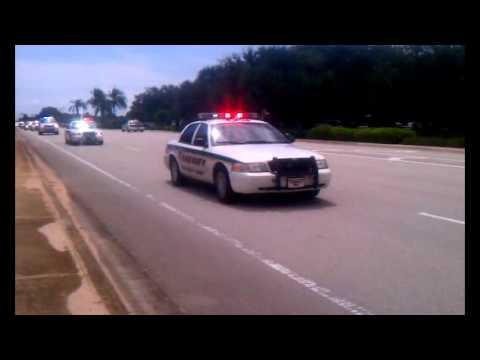 Funeral Procession of Jupiter FL Officer Bruce St Laurent