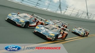 Ford Chip Ganassi GTs Hit Roar Before the 24   Rolex 24   Ford Performance