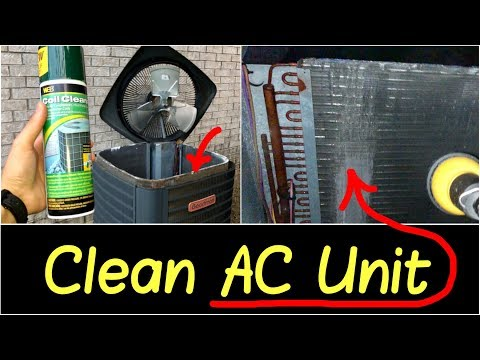 ✅How to Clean Air Conditioner AC Condenser Unit Outside | Best Coil Cleaner for AC Window Unit