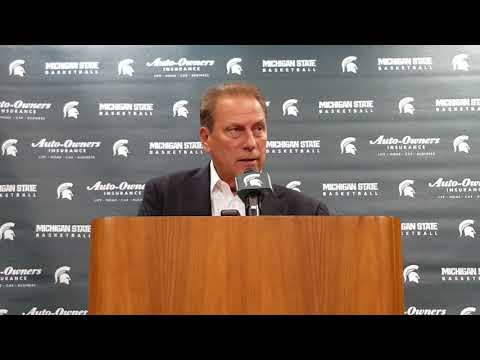 Tom Izzo addresses media during 2017 Michigan State media day