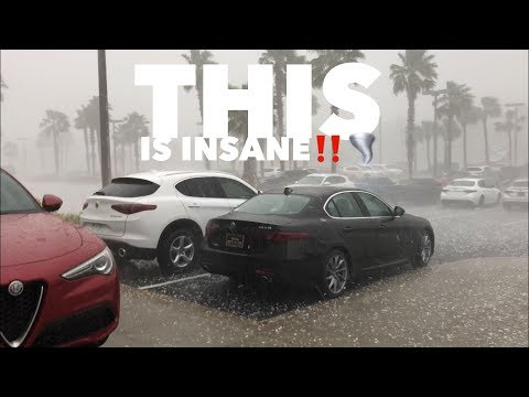 Hail Storm Destroys Maserati And Alfa Romeo Car Dealership!!!