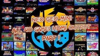 NeoGeo Mini HDMI Out - Games 1-11 Gameplay (English) Neo Geo