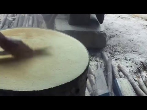 making cassava bread