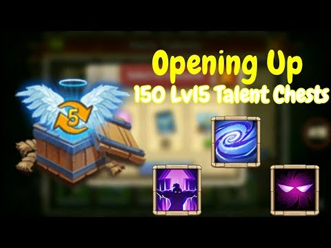 Opening Up 150 Level 5 Talent Chests L Castle Clash