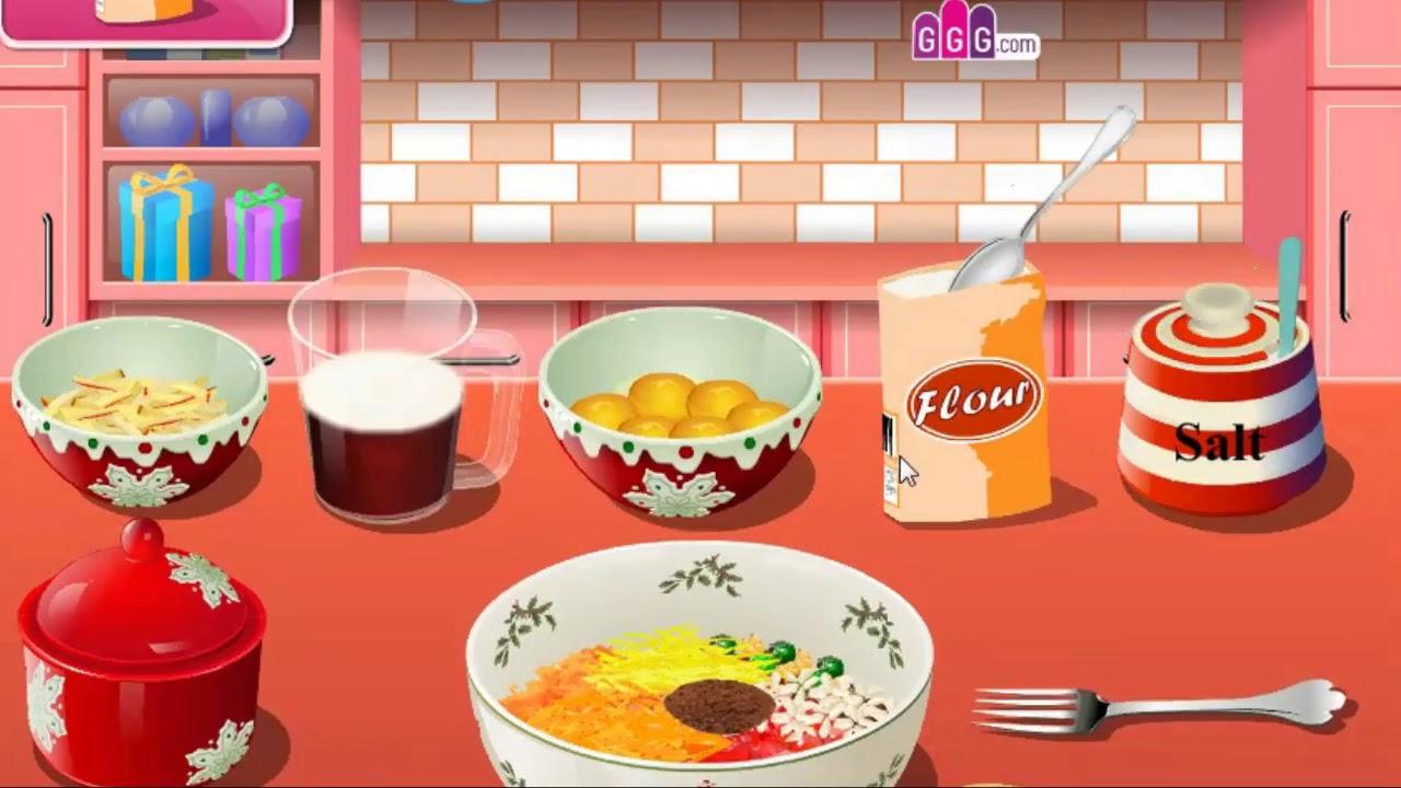 giochi di Ino Harune #4 - dolce natalizio cucina con sara - YouTube